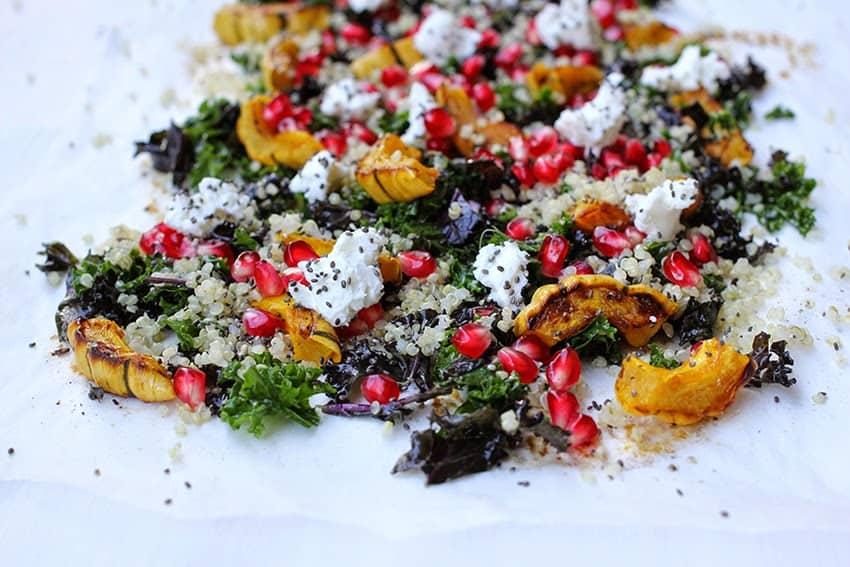 Quinoa-Salat mit Grünkohl | gerösteter Delikatakürbis |SOAP|KITCHEN|STYLE