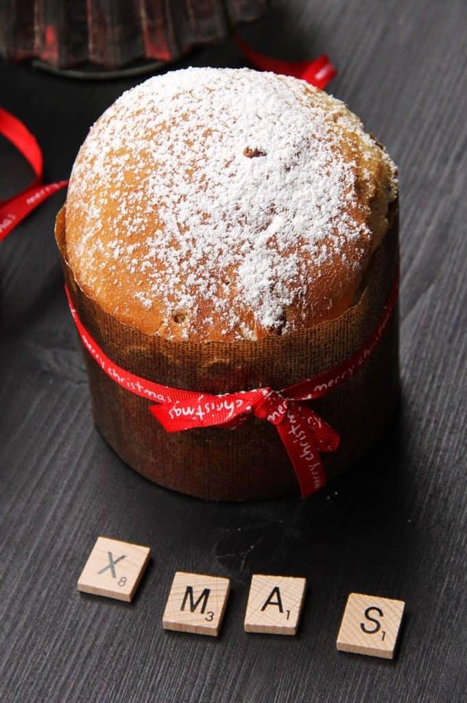 Rezept von einem weihnachtlichen Panettone