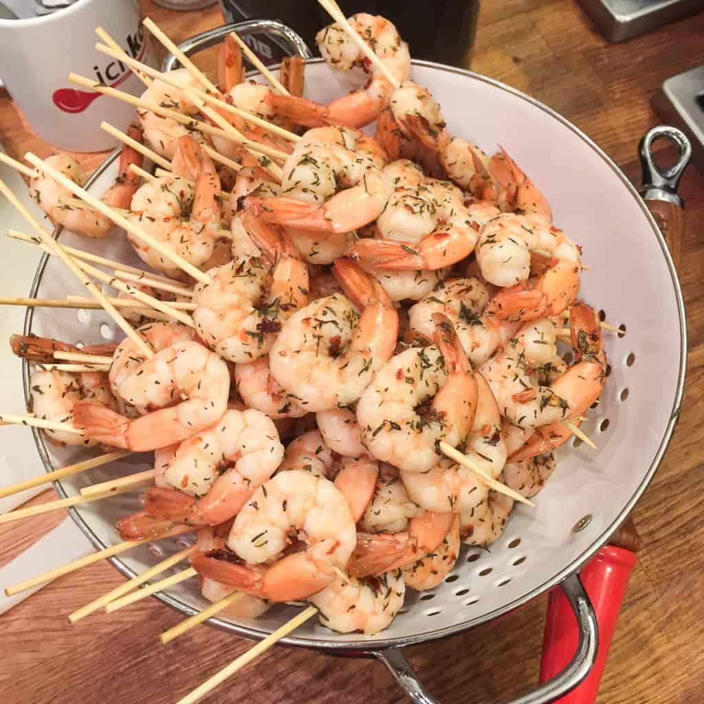 Black Tiger Shrimps | Chimichurri | Melonen-Tomaten-Ragu | Rezept | Bio Shrimps | yuunmee | Grillen | Sommer