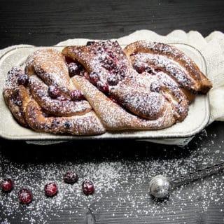 Cranberry Zopfkuchen | Backen fürs Maturaprojekt