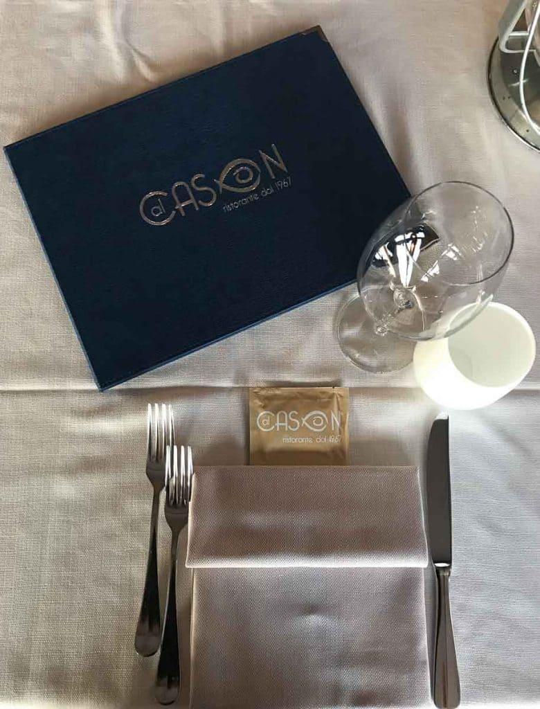 Speisekarte Al Cason Lignano